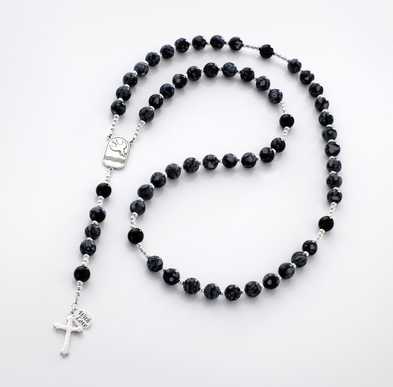 Personalised Rosary Obsidian Amp Onyx Heavens Blessings